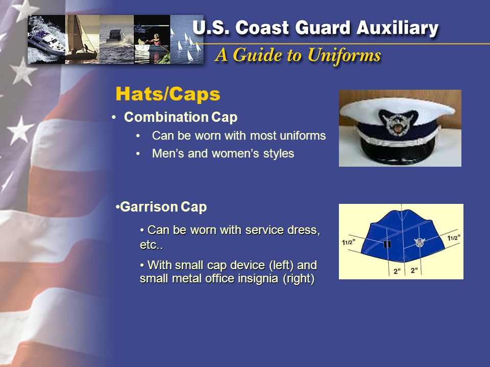 Hats/Caps Combination Cap Garrison Cap Can be worn with most uniforms