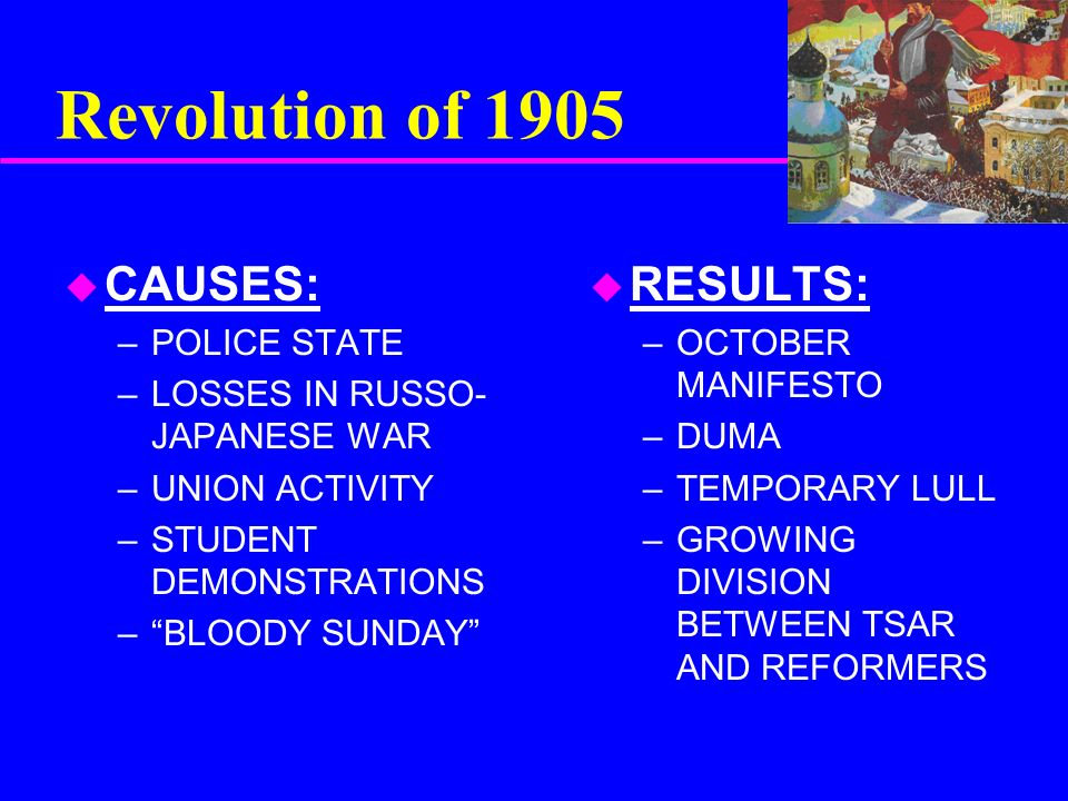 russian revolution causes