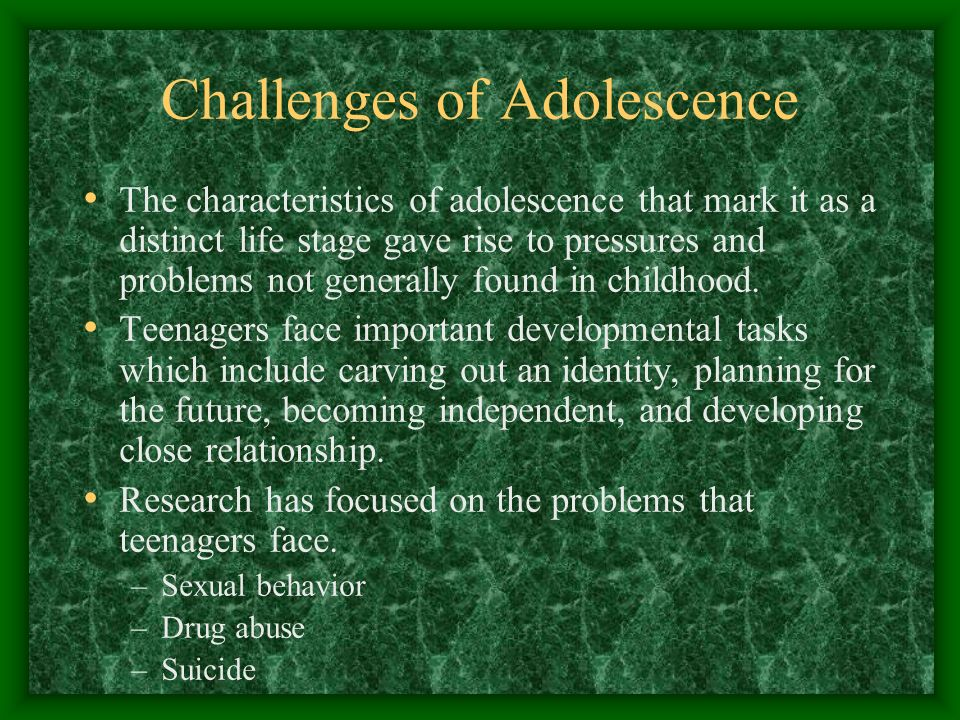 Challenges of Adolescence - ppt video online download