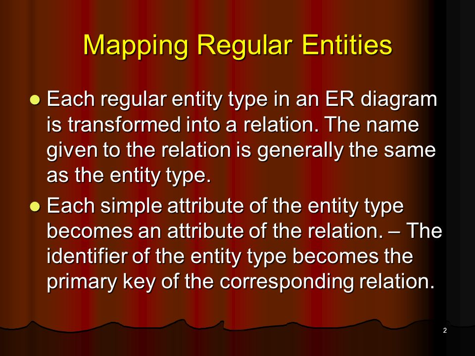 Converting Er Model Into Relational Table Ppt Video Online Download