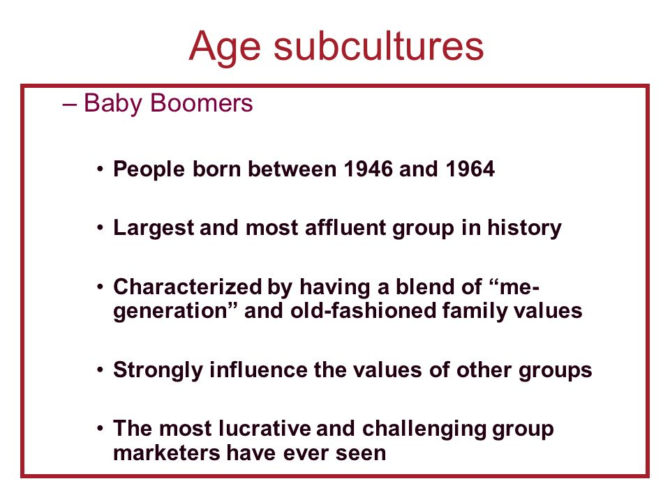 Relationship Between Culture and Subculture - ppt video