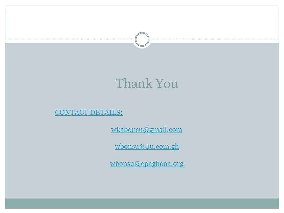 Thank You Contact details: