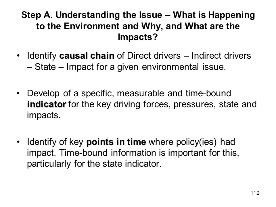 Step A. Understanding the Issue – What is Happening to the Environment and Why, and What are the Impacts