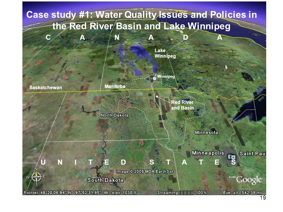 Case study #1: Water Quality Issues and Policies in the Red River Basin and Lake Winnipeg