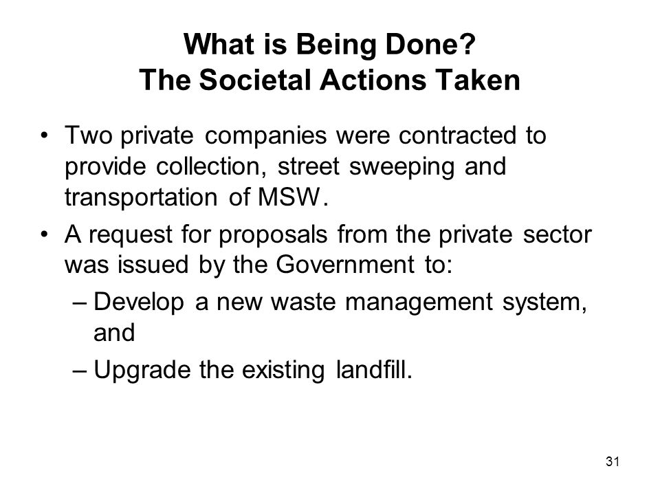 What is Being Done The Societal Actions Taken