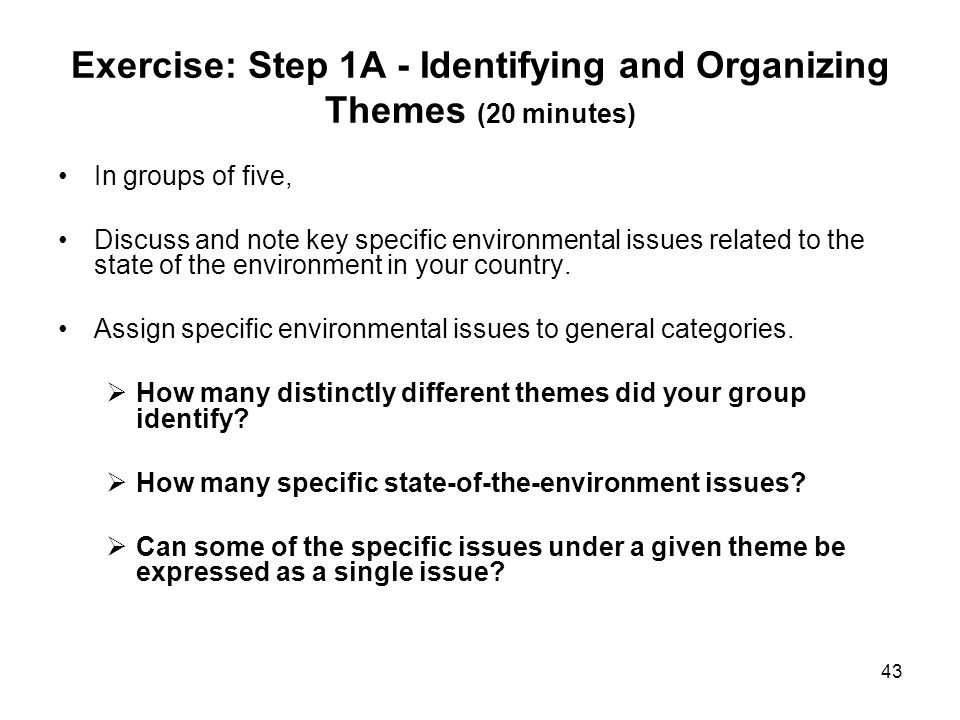 Exercise: Step 1A - Identifying and Organizing Themes (20 minutes)