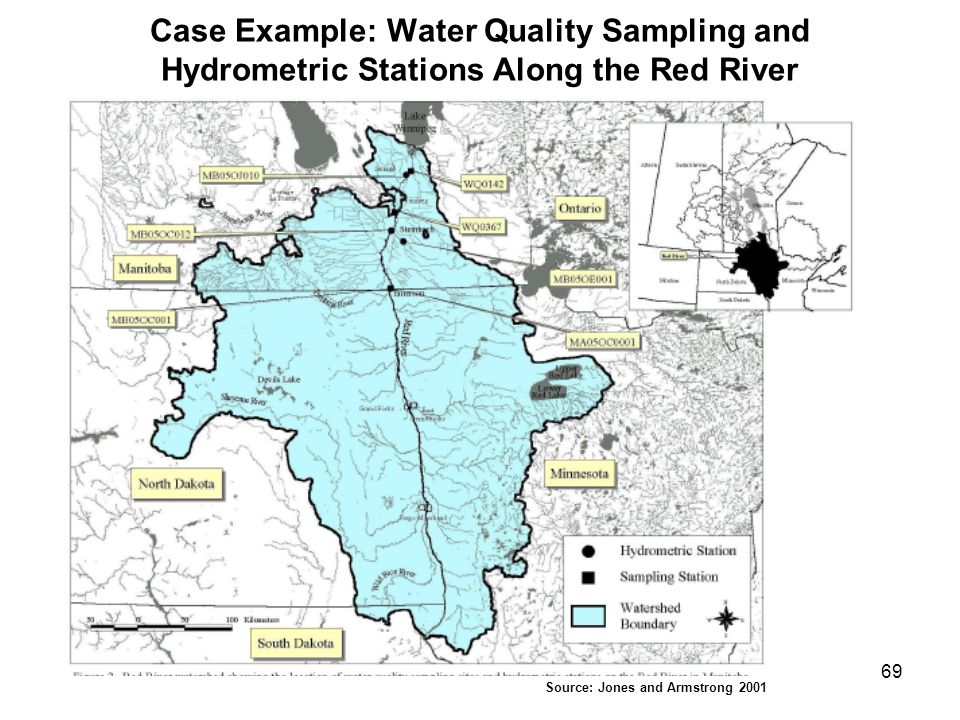 Case Example: Water Quality Sampling and Hydrometric Stations Along the Red River