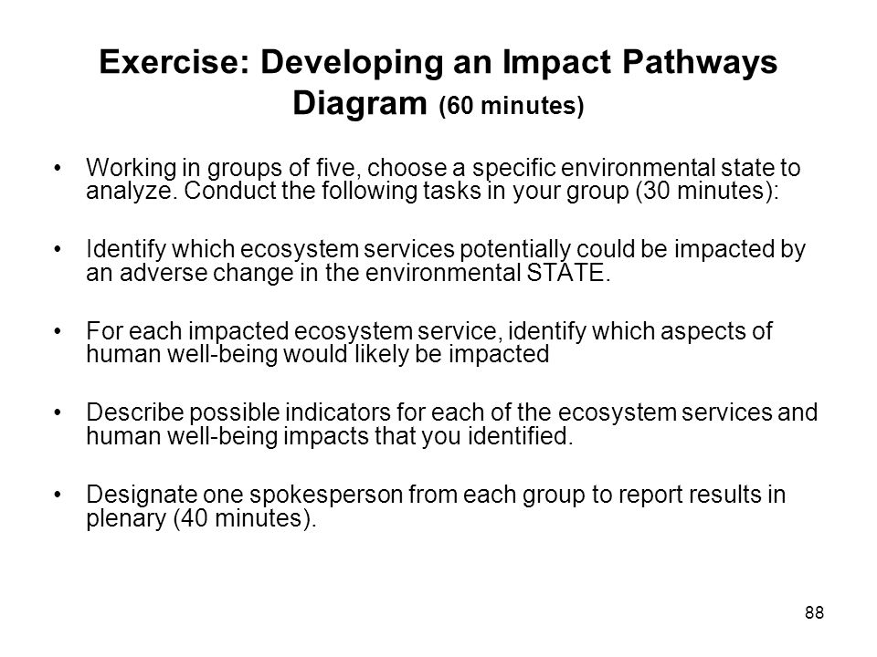 Exercise: Developing an Impact Pathways Diagram (60 minutes)