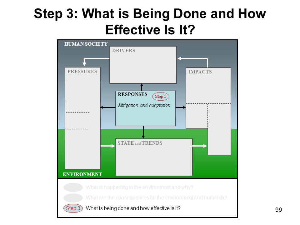 Step 3: What is Being Done and How Effective Is It