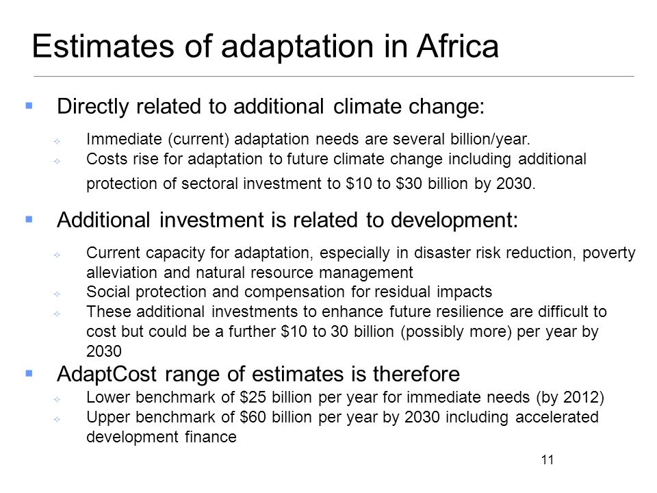 Estimates of adaptation in Africa