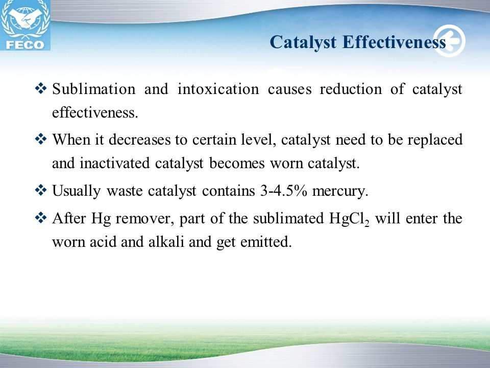 Catalyst Effectiveness