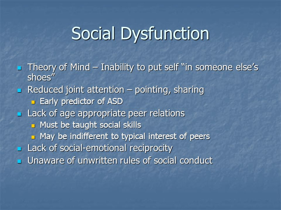 social dysfunktion