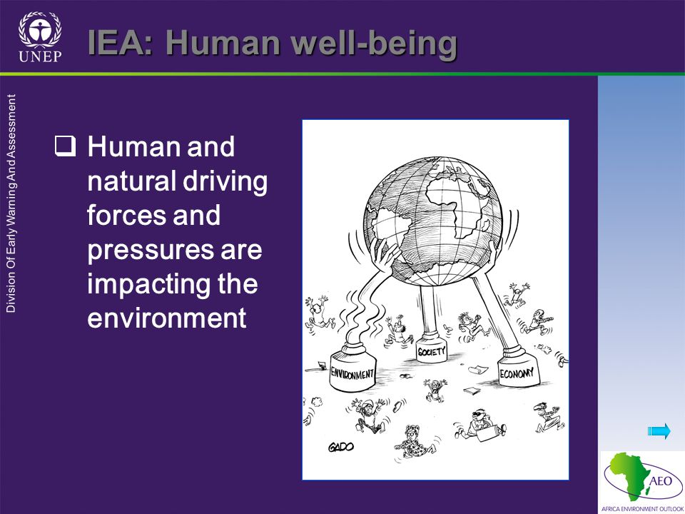 IEA: Human well-being Human and natural driving forces and pressures are impacting the environment