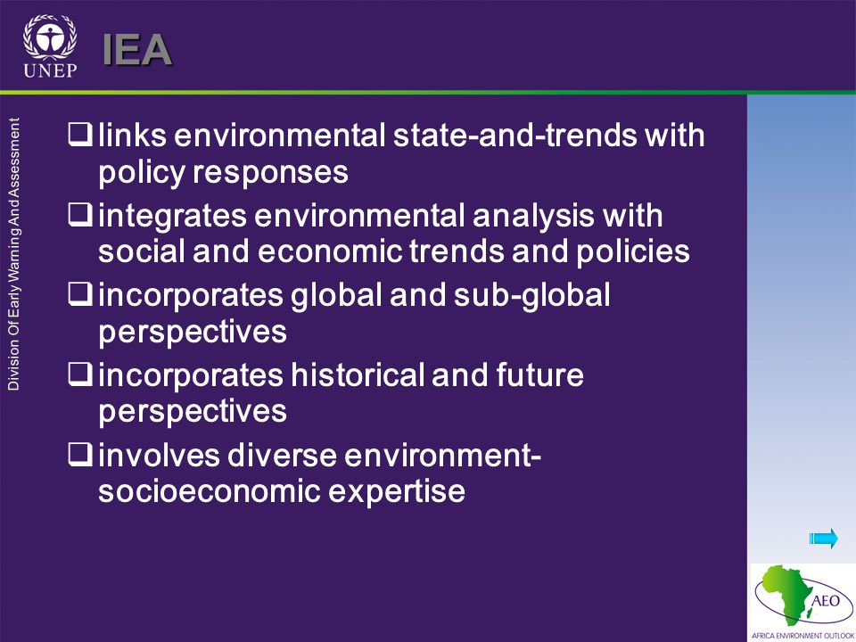 IEA links environmental state-and-trends with policy responses
