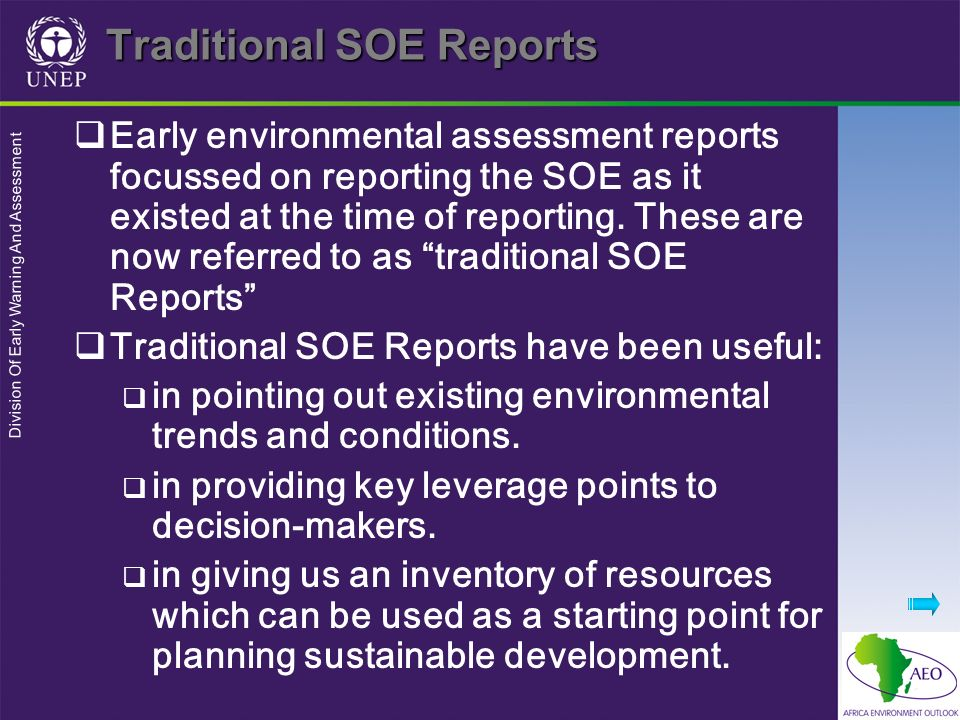 Traditional SOE Reports