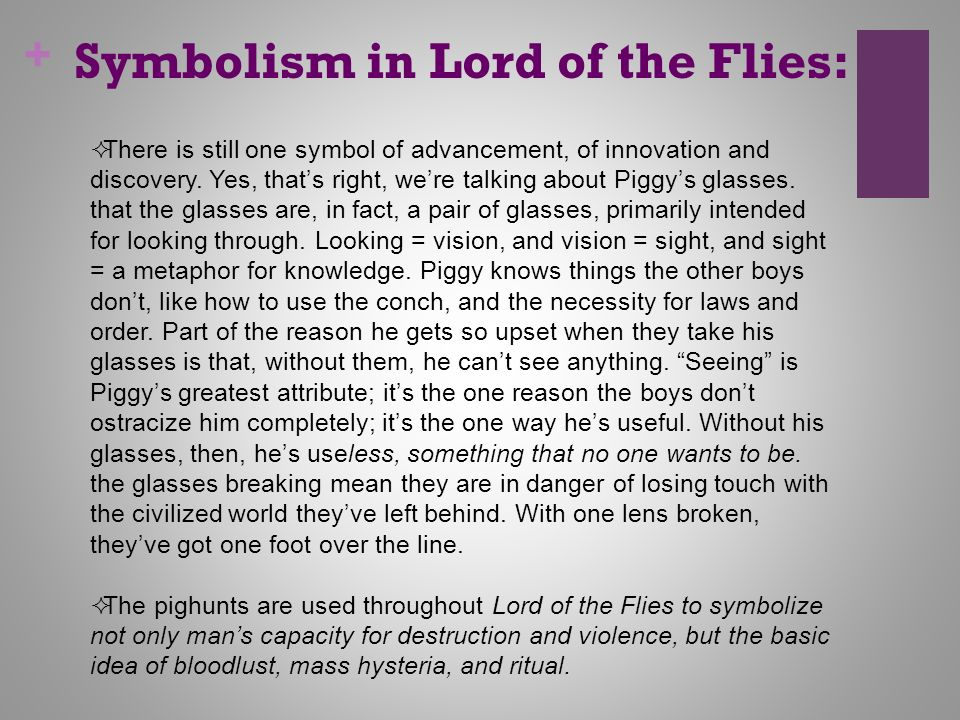 lord of the flies symbolism essay