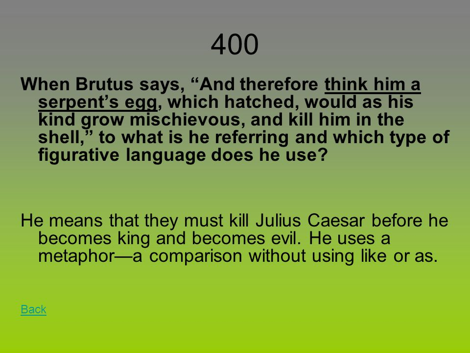 an analysis of the funeral speech by brutus in julius caesar by william shakespeare Antony understood that brutus had garnered immense support with his previous speech and that people at that moment of time, were convinced that the death of caesar was justified and brutus had done the right thing.