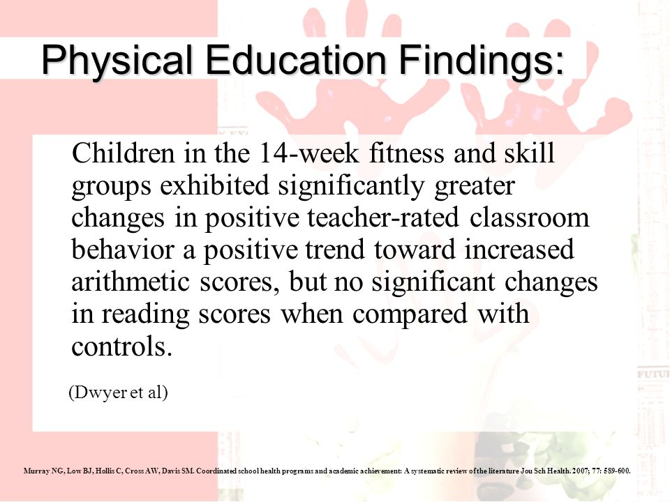 Physical Education Findings: