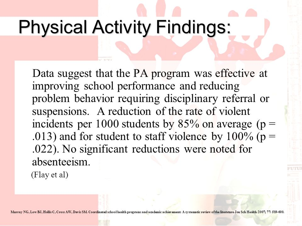 Physical Activity Findings: