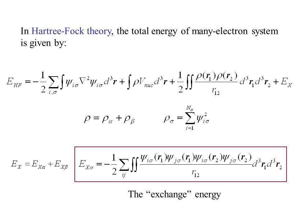 energy density functional theory of many electron systems