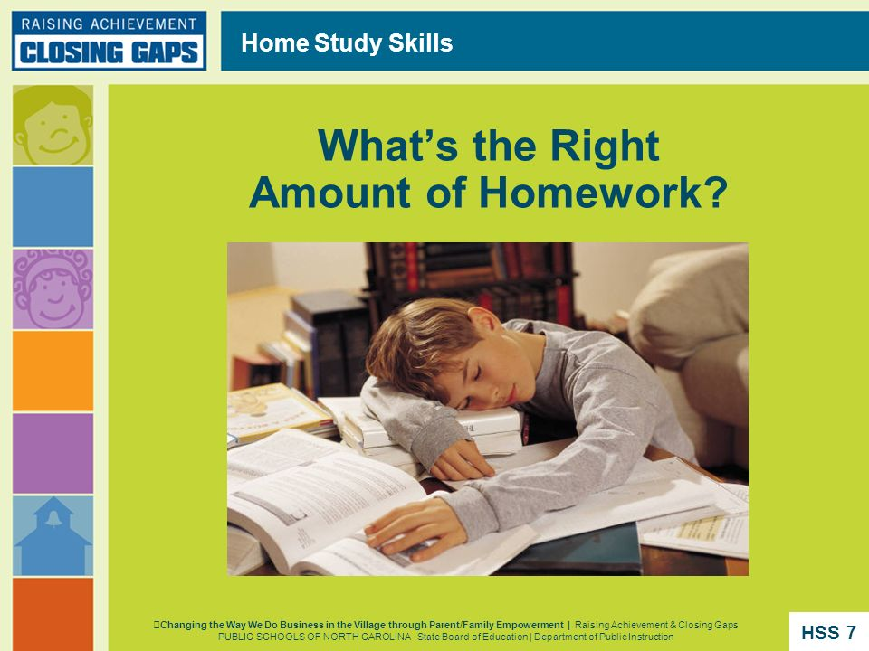 Whats Right Amount Of Homework >> Raising Achievement Closing Gaps Section Ppt Download