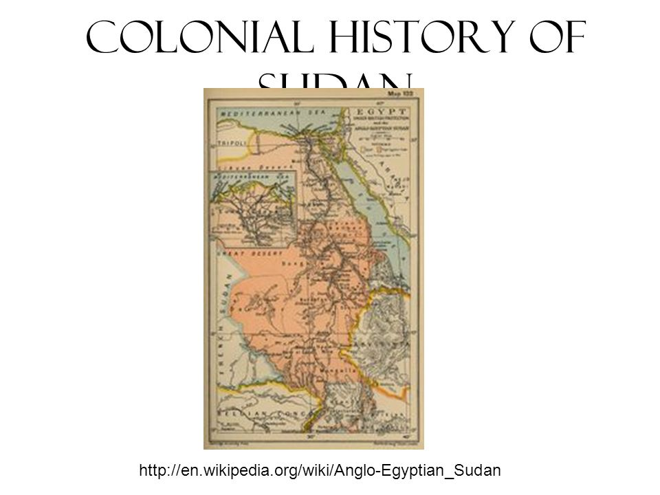 Colonial History of Sudan