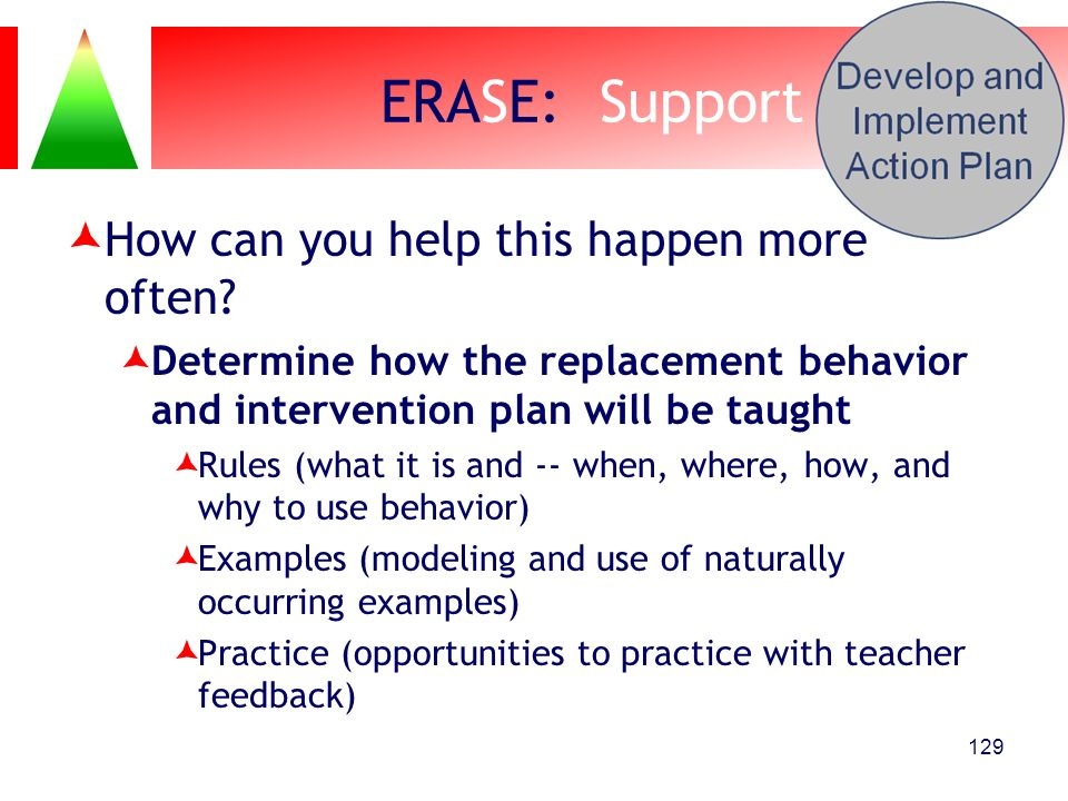 ERASE: Support How can you help this happen more often