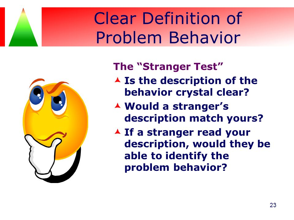 Clear Definition of Problem Behavior