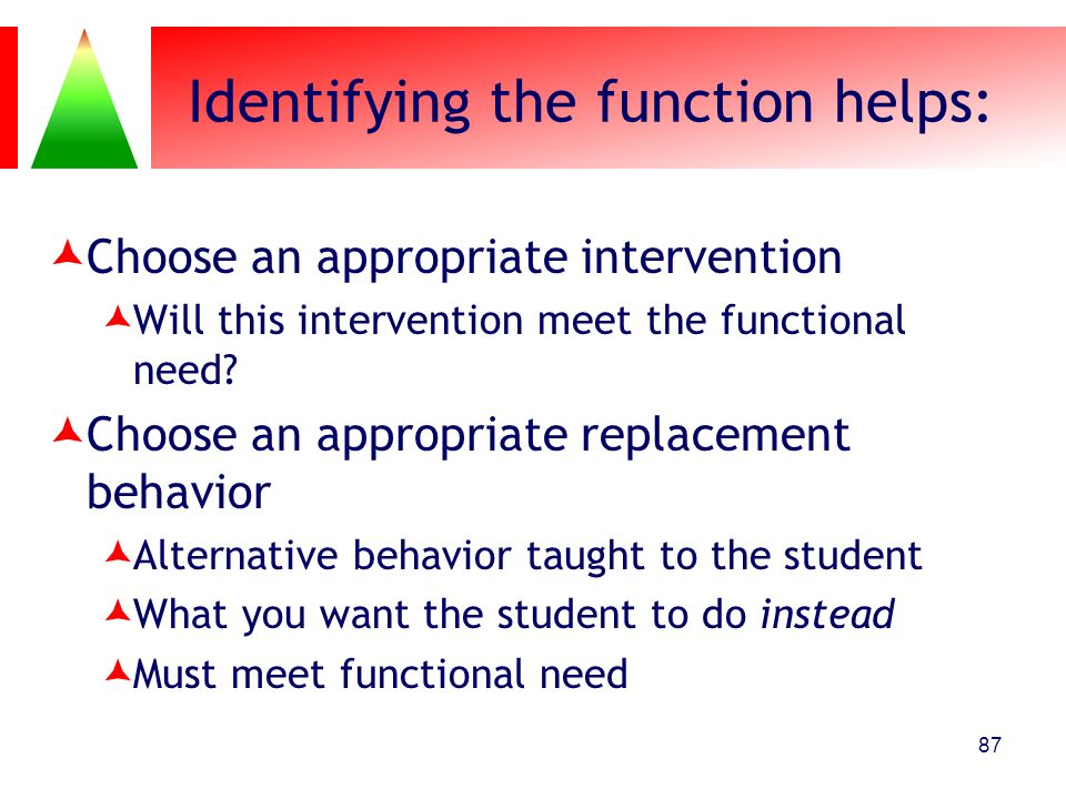 Identifying the function helps: