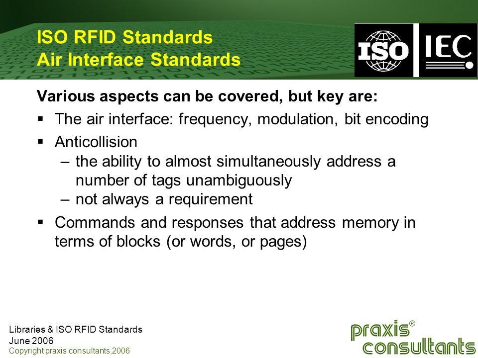 ISO RFID Standards Air Interface Standards
