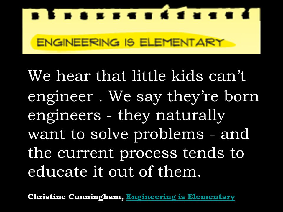 Christine Cunningham, Engineering is Elementary
