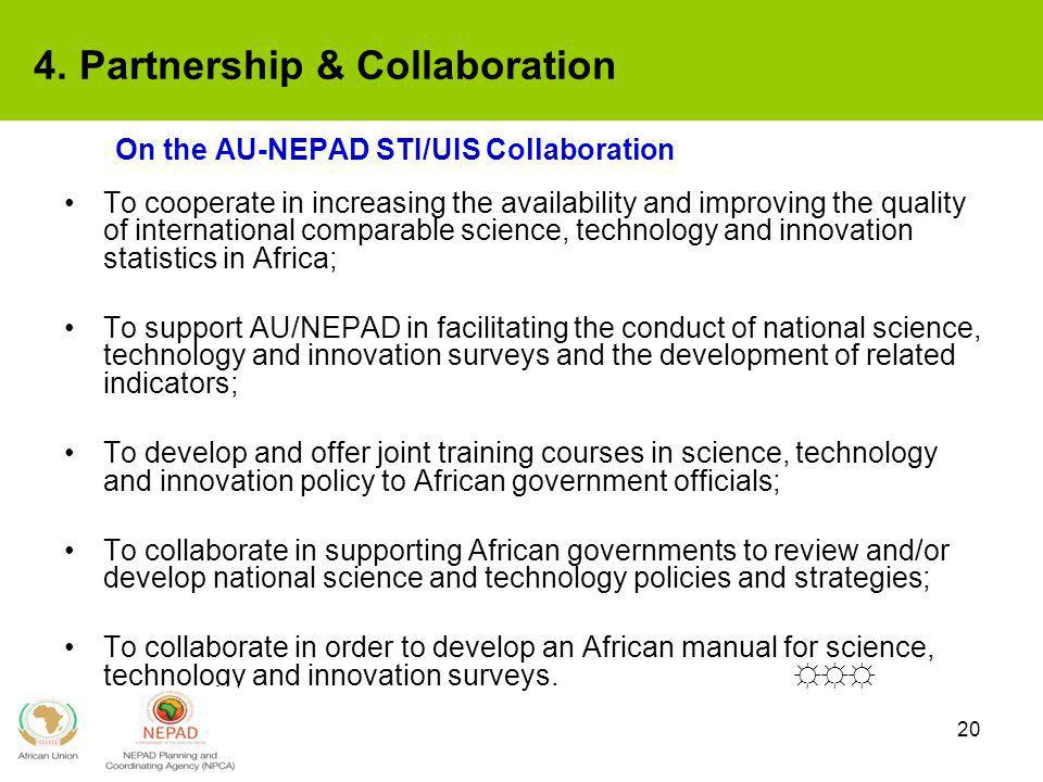 On the AU-NEPAD STI/UIS Collaboration