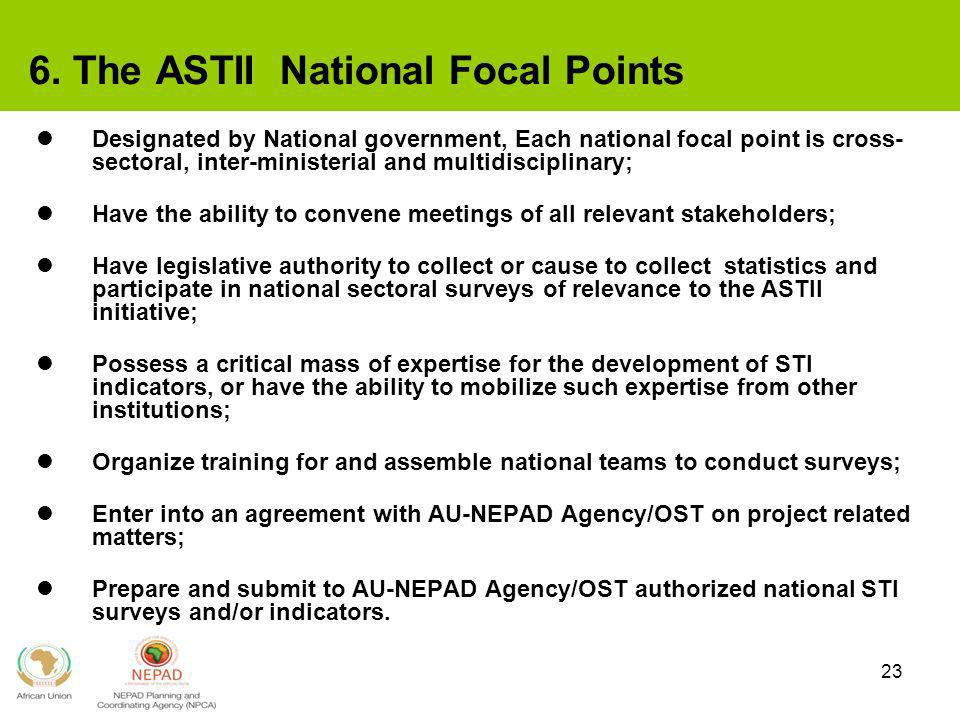 6. The ASTII National Focal Points