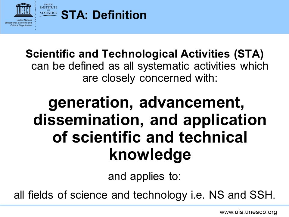 all fields of science and technology i.e. NS and SSH.
