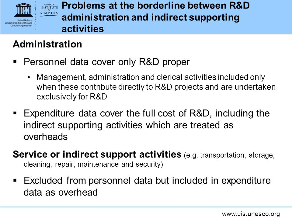 Personnel data cover only R&D proper