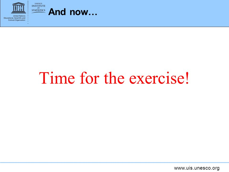 And now… Time for the exercise!