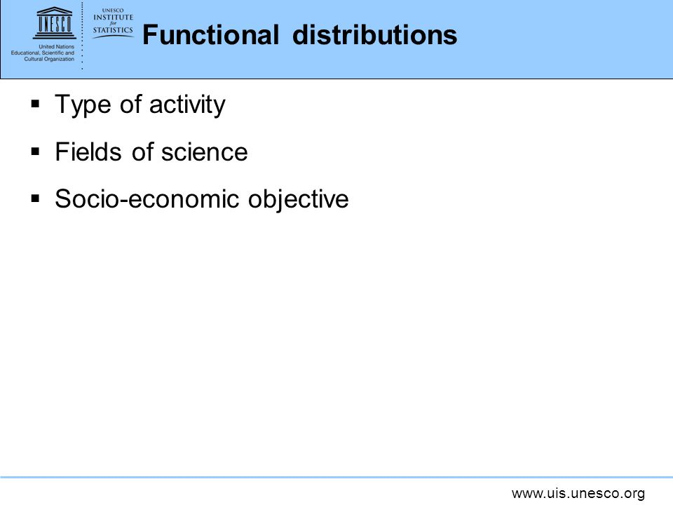 Functional distributions