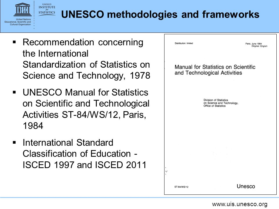 UNESCO methodologies and frameworks