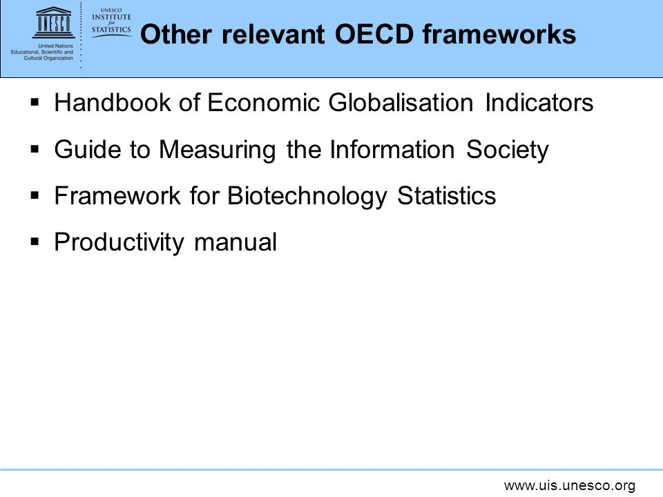 Other relevant OECD frameworks