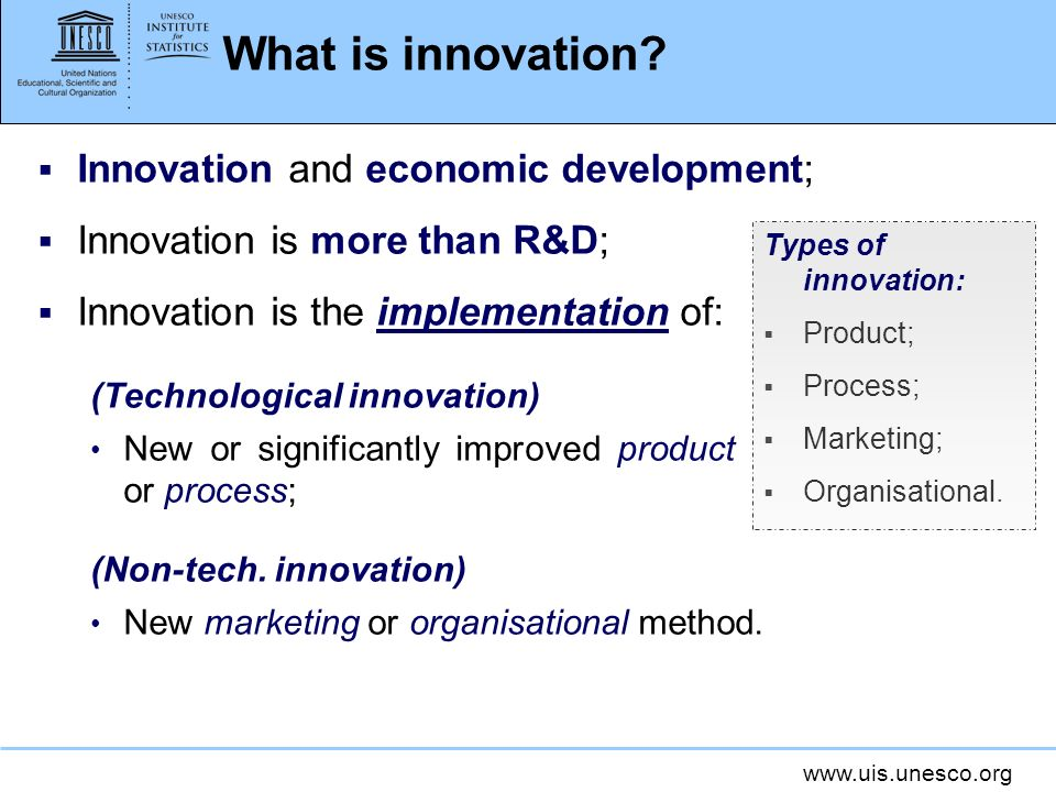 What is innovation Innovation and economic development;
