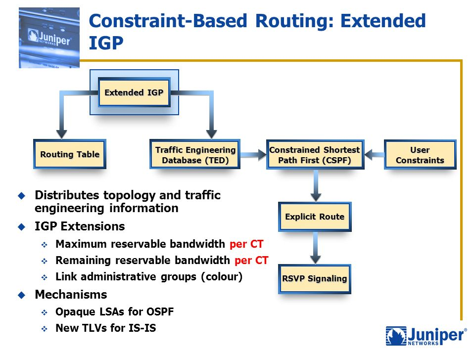 Constraint-Based Routing: Extended IGP