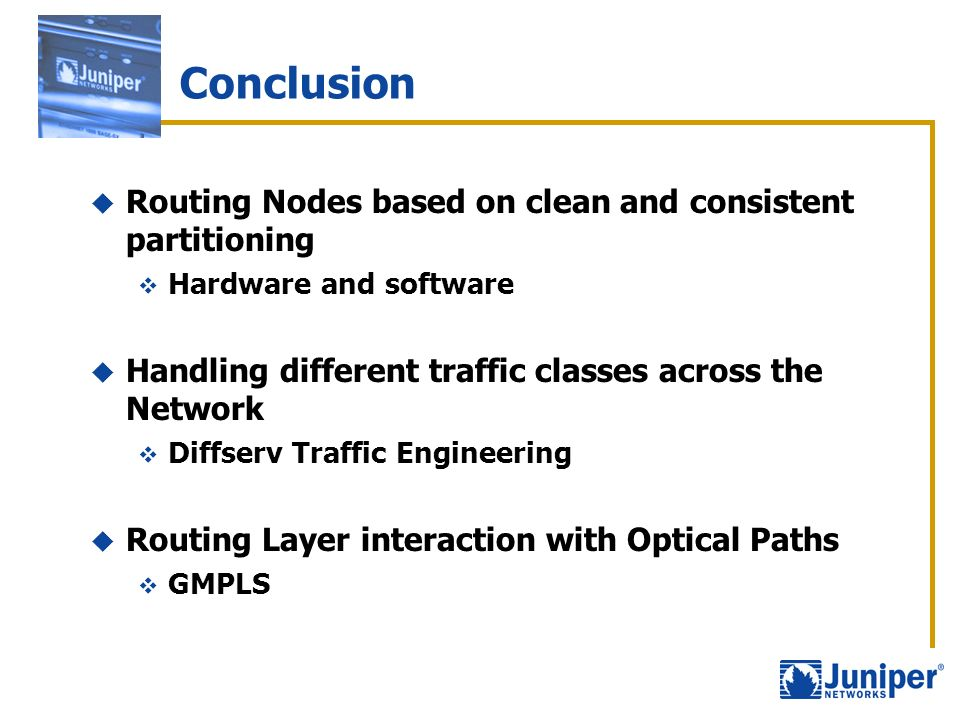 Conclusion Routing Nodes based on clean and consistent partitioning