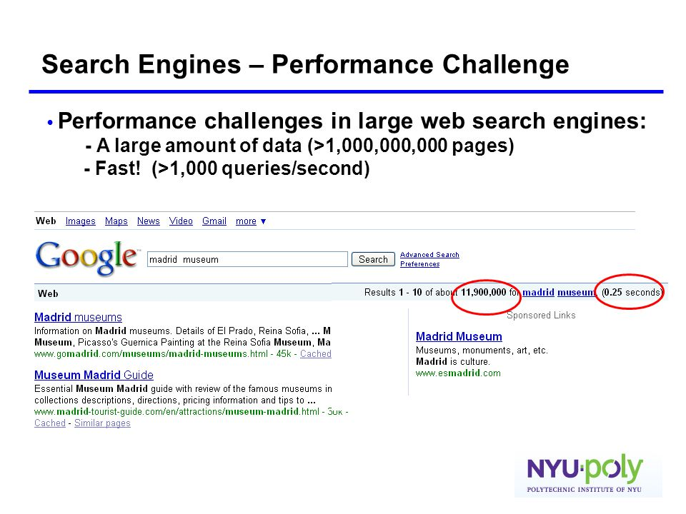 Search Engines – Performance Challenge
