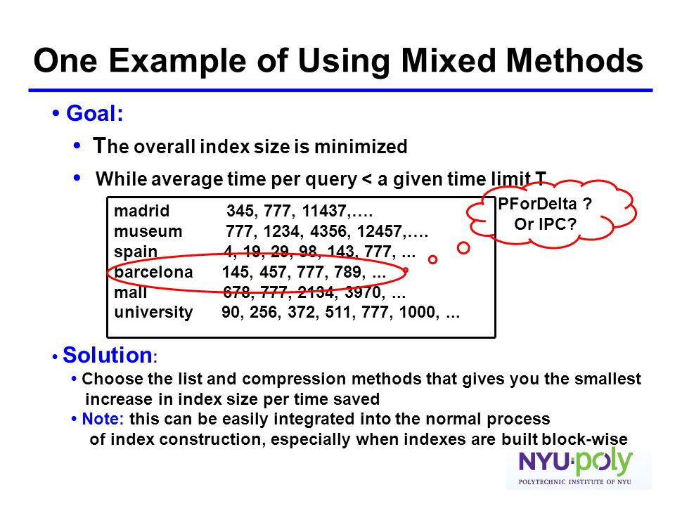 One Example of Using Mixed Methods