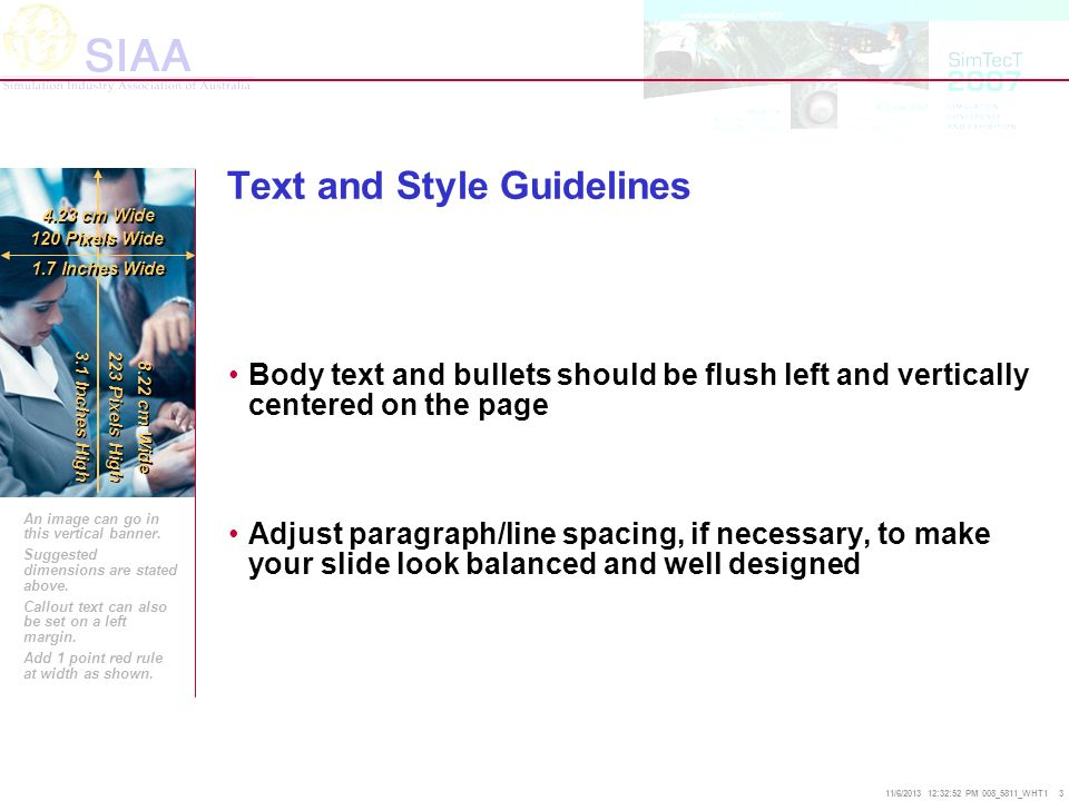 Text and Style Guidelines