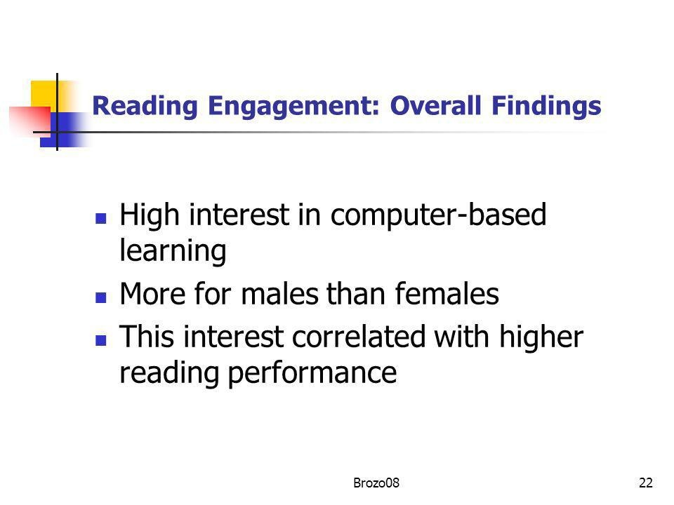 Reading Engagement: Overall Findings