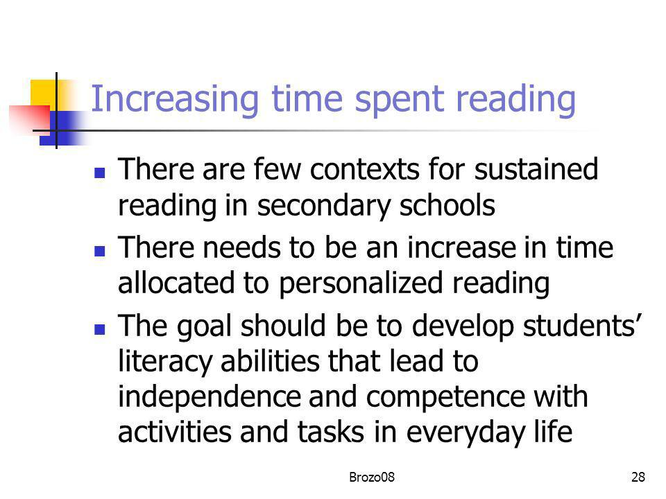 Increasing time spent reading