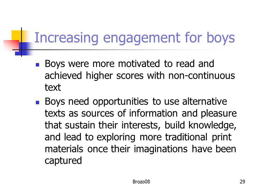 Increasing engagement for boys