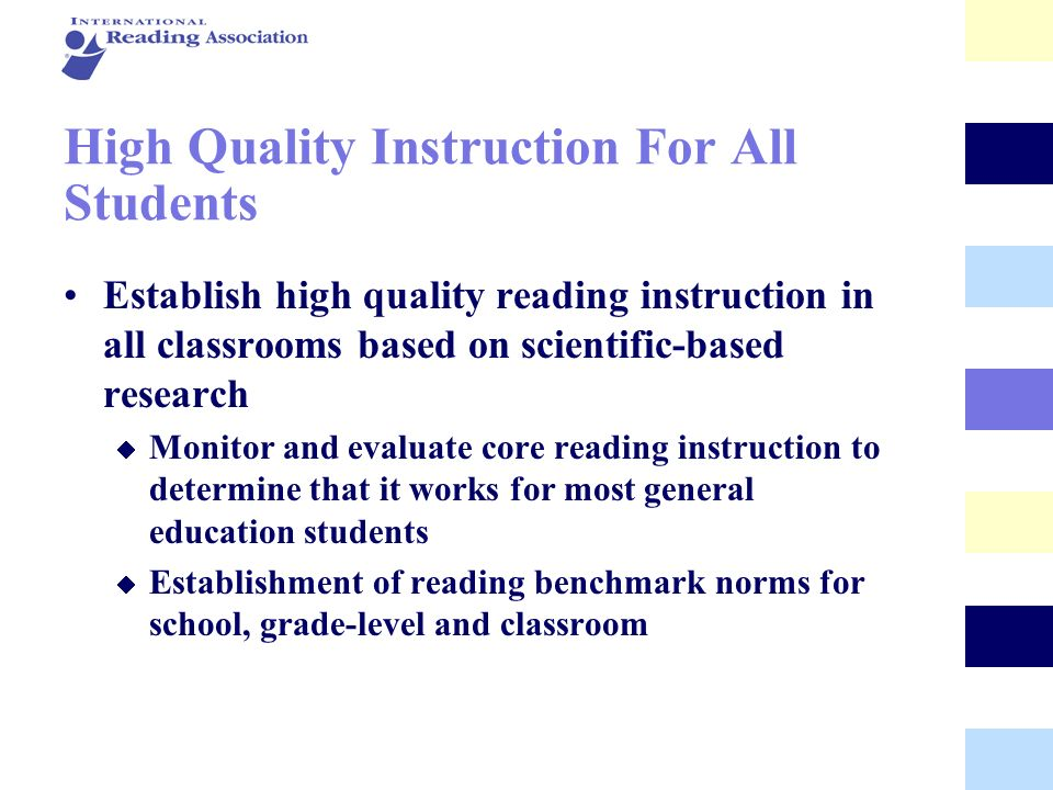 High Quality Instruction For All Students