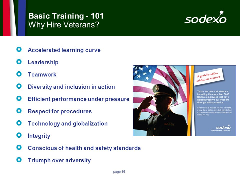 Basic Training - 101 Why Hire Veterans